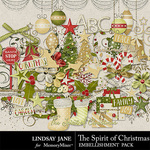 The Spirit of Christmas Embellishment Pack-$3.49 (Lindsay Jane)