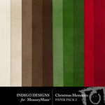 Christmas Memories ID Solid Papers-$2.99 (Indigo Designs)
