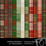 Christmas Memories ID Checked Papers-$3.49 (Indigo Designs)
