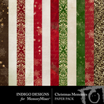 Christmas Memories ID Paper Pack-$3.49 (Indigo Designs)