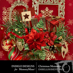 Christmas memories  embellishments small