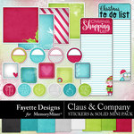 Claus and Company Stickers and Solid Mini-$3.49 (Fayette Designs)