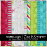 Claus and Company Basic Paper Pack-$3.99 (Fayette Designs)