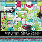 Claus and Company Basic Embellishments-$3.99 (Fayette Designs)
