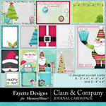 Claus and Company Journal Cards Pack-$3.99 (Fayette Designs)