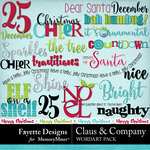 Claus and Company WordArt Pack-$3.99 (Fayette Designs)