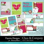 Claus and Company Gift Tag Pack-$1.99 (Fayette Designs)