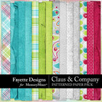 Claus and Company Patterned Paper Pack-$3.99 (Fayette Designs)
