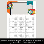 2016 Year in Review QuickPage 1-$2.99 (Albums to Remember)