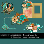 Live Colorful LB Cluster Pack-$4.99 (Laura Burger)