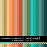 Live Colorful LB Paper Pack-$2.99 (Laura Burger)