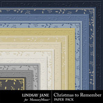 Christmas to Remember LJ Embossed Paper Pack-$1.99 (Lindsay Jane)