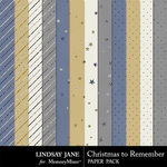 Christmas to Remember LJ Glitter Paper Pack-$1.99 (Lindsay Jane)