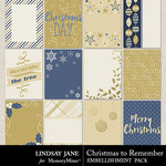 Christmas to Remember LJ Journal Cards-$1.99 (Lindsay Jane)