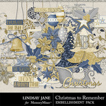 Christmas to Remember LJ Embellishment Pack-$3.49 (Lindsay Jane)