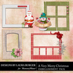 A Very Merry Christmas Frame Clusters-$4.99 (Laura Burger)