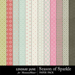 Season of Sparkle Pattern Paper Pack-$1.99 (Lindsay Jane)