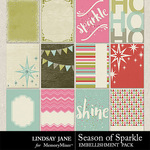 Season of Sparkle Journal Cards-$1.99 (Lindsay Jane)