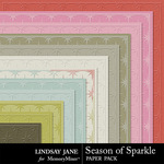 Season of Sparkle Embossed Paper Pack-$1.99 (Lindsay Jane)