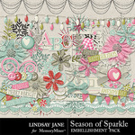 Season of Sparkle Embellishment Pack-$3.49 (Lindsay Jane)