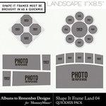 Shape It Frames Set 4 Landscape-$3.49 (Albums to Remember)
