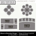 Shape It Frames Set 4 Landscape-$3.49 (Albums to Remember)