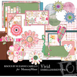 Vivid Embellishment Pack-$2.99 (Bisous By Suzanne Carillo)