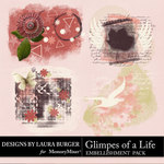 Glimpes of a Life Grunge Scatters Pack-$3.99 (Laura Burger)