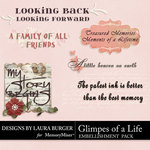 Glimpes of a Life WordArt Pack-$3.99 (Laura Burger)