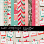 Colour Play Paper Pack 1-$3.99 (Karen Lewis)