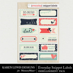 Everyday Snippet Labels Pack-$1.99 (Karen Lewis)