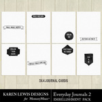 Everyday Journals Pack 2-$1.99 (Karen Lewis)