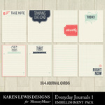 Everyday Journals Pack 1-$1.99 (Karen Lewis)