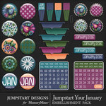 Jumpstart Your January Flairs Pack-$3.99 (Jumpstart Designs)