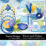 Frost and Flakes Basic Embellishments-$3.99 (Fayette Designs)