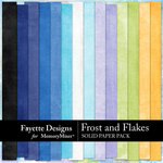 Frost and Flakes Solid Paper Pack-$2.99 (Fayette Designs)