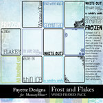 Frost and Flakes Word Frames Pack-$3.99 (Fayette Designs)