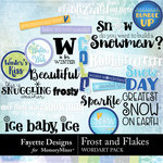 Frost and Flakes WordArt Pack-$3.99 (Fayette Designs)