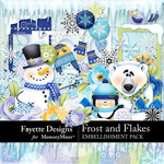 Frost and Flakes Embellishment Pack-$4.49 (Fayette Designs)