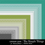 The Simple Things Embossed Paper-$1.99 (Lindsay Jane)