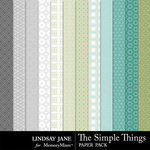 The Simple Things Patterned Paper-$2.49 (Lindsay Jane)