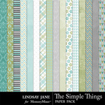 The Simple Things Paper Pack-$2.49 (Lindsay Jane)