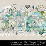 The Simple Things Embellishments-$3.49 (Lindsay Jane)