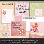 My Memories January Pocket Pieces-$3.99 (Laura Burger)