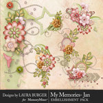 My Memories January Cluster Pack 2-$4.99 (Laura Burger)