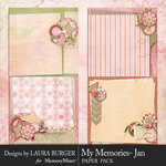 My Memories January Stacked Paper Pack-$4.99 (Laura Burger)