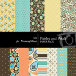 Paisley and Petals 2 Paper Pack-$4.00 (s.e.i)