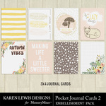 Pocket Cards Pack 2-$1.99 (Karen Lewis)