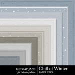 Chill of Winter Embossed Paper Pack-$1.99 (Lindsay Jane)