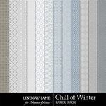 Chill of Winter Pattern Paper Pack-$1.99 (Lindsay Jane)